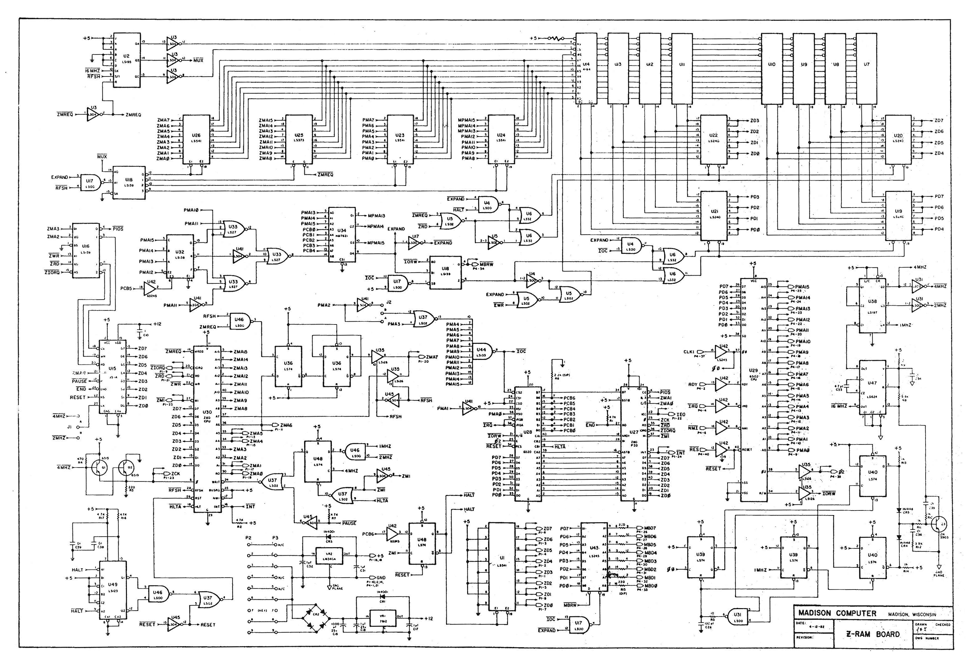 mike naberezny   madison computer z ramschematic  middot  block diagram